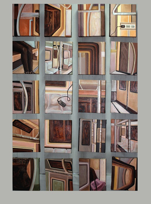 2. Unabridged Journey, 150x40 cms, Acrylic Oil & Aluminium sheet on canvas