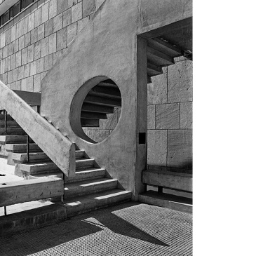 IIT-Delhi (staircase to the first floor of the building) c. 1968