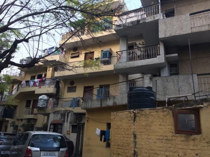 Incremental living (DDA flats, Katwaria Sarai, Delhi). Photograph by Samprati Pani.