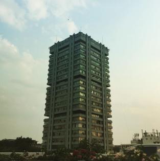 Rendering bureaucracy (DDA headquarters, Delhi). Photograph courtesy of Chitra Venkataramani.